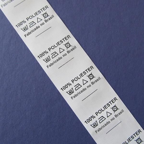 Etiqueta de composição têxtil