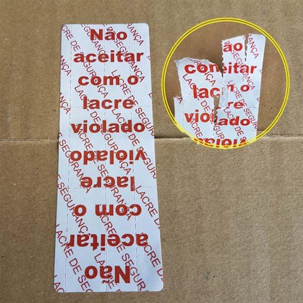 Etiqueta lacre de segurança