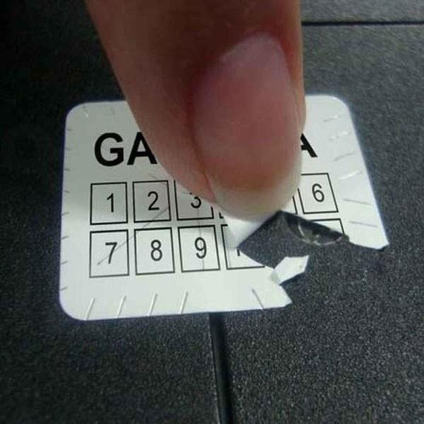 Etiqueta de segurança de papel