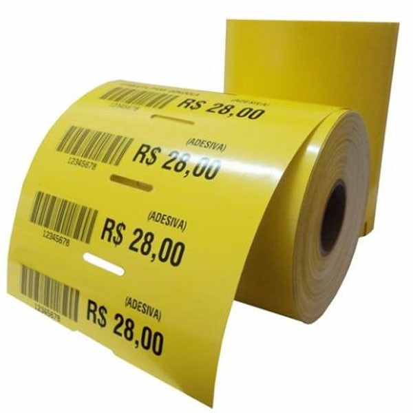 Etiquetas de preços para gôndolas