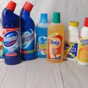 Rótulos para produtos de limpeza